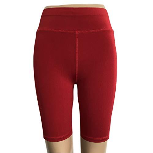 AOJIAN Yoga Pants Buttery Soft High Waist Pockets Shorts Jogger Capri Workout Running Sports Leggings for Women Wine