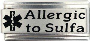 - Allergic To Sulfa Medical Alert Italian Charm Bracelet Jewelry Link