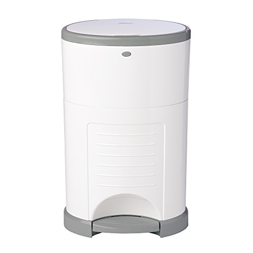 Dekor Plus Hands-Free Diaper Pail, White