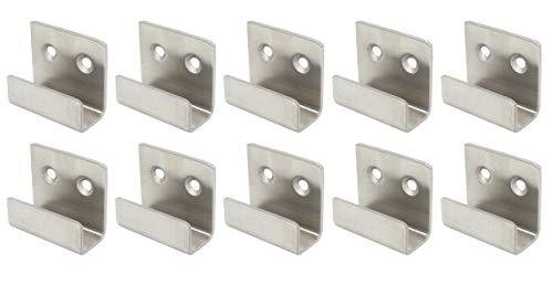 Stainless Steel Flat J Hooks Hanger, Ceramic Tile Billboard Display Board Holder Wall Mount Heavy Duty Hook Brackets Silver, Pack of 10