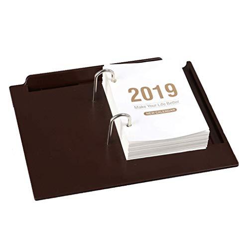 Agenda 2019 Calendario Destrozado Organizador Calendario Calendario Escritorio Nuevos artículos de Oficina (Color : Brown)
