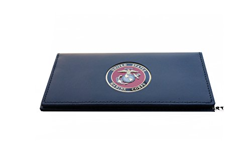 US MARINE CORPS, Officially Licensed CHECKBOOK COVER with Medallion (Corp Cover Marine)