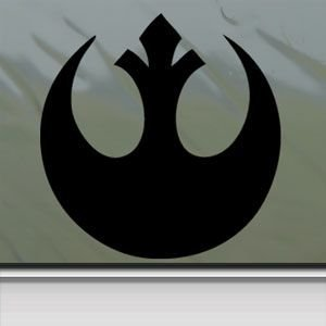 Amazoncom Star Wars Black Sticker Decal Rebel Alliance Black Car - Window decals amazon