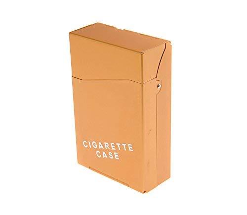 (Nomadic Trader Aluminium Alloy Cigarette Case, in Cigarette Pack Shape, with Cigarette Case Wording, Holds 18 Cigarettes, Colour: Gold, Mod. 404-05 (US))