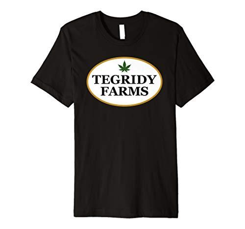 Tegridy Farms Fake Marijuana Pot Weed Logo Premium T-Shirt (Shirts With Weed Logo)