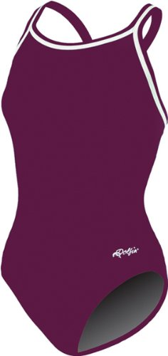 Dolfin CHLOROBAN TEAM SOLID SUIT WOMENS MAROON SIZE 36