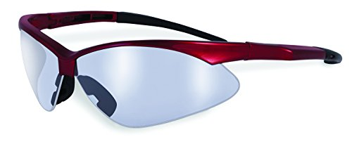 (SSP Eyewear Safety Glasses with Red Frames and Clear Anti-Fog Shatterproof Lenses, SNOQUALMIE RED CL A/F)