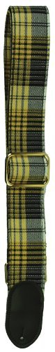 LM Products PL2Y 2-Inch Yellow Plaid Guitar Strap