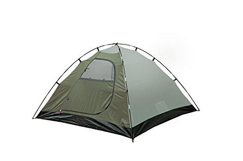 31fsS9HsrXL High Peak Kuppelzelt Nevada 4, Campingzelt mit Vorbau, Iglu-Zelt für 4 Personen, doppelwandig, wasserdicht…