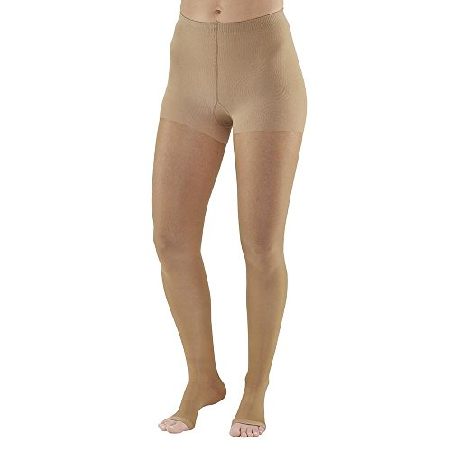 Ames Walker AW Style 268 Signature Sheers 20 30mmHg Firm Compression Open Toe Compression Pantyhose Silky Nude Medium Relieves pain of tired aching legs Effective Post Sclerotherapy treatment (Ames Walker Compression Pantyhose)