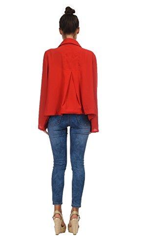 Rouge en blue RIVA Femme soie Bella Veste qTP8xwY