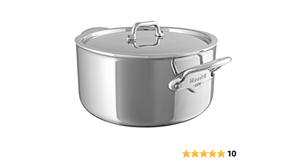 Mauviel Made In France MCook 5 Ply Stainless Steel 5223.16 1.0-Quart Splayed Saute Pan with Cast Stainless Steel Handle