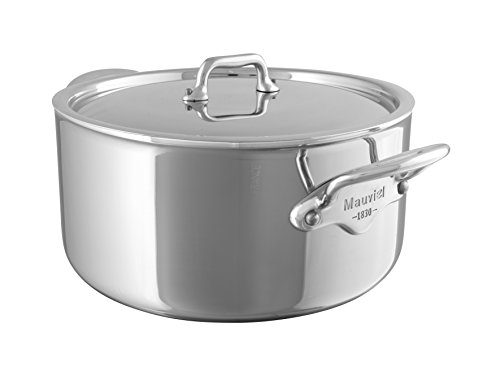 (Mauviel Made In France M'Cook 5 Ply Stainless Steel 5231.21 3.6-Quart Stewpan with Lid, Cast Stainless Steel Handle )