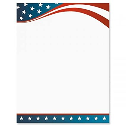a59e07550c0c Amazon.com   4th of July Patriotic Letter Papers - Set of 25 ...