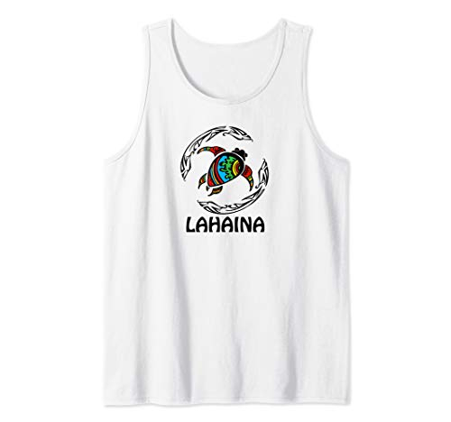 Lahaina Tribal Turtle Hawaiian Design Souvenir Gift Tank Top ()