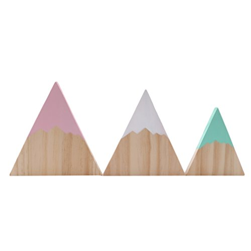 - Dolland Nordic Top Woodland Wood Mountain Decorative Handmade Kids Bookends Home Decor Wooden Mountain Children's Room Decoration Blocks,Type 3,One Size