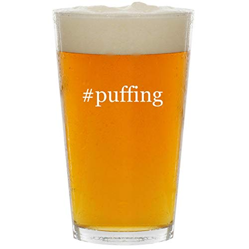 #puffing - Glass Hashtag 16oz Beer Pint