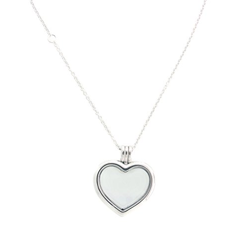 PANDORA Floating Heart Locket, Sapphire Crystal Glass & Clear CZ 590544-60 by PANDORA