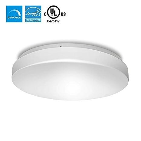 Hyperikon LED Flush Mount White Ceiling Light Model D W - Dimmable led kitchen ceiling lights