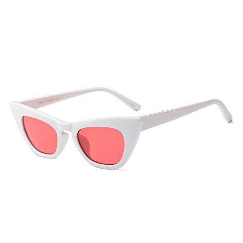 Mujer Clout Blanco White Sol Señoras Red Tonos C5 Vintage De Gafas Gafas Sexy Gato Travel Rojo Gafas Uv Ojo C5 De Negro TIANLIANG04 De 4YxHBOq