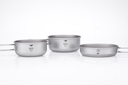 Keith Titanium Ti6053 3-Piece Bowl and Pan - Pan Food 148
