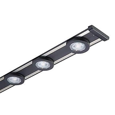 HALO 18 in. LED Black Under Cabinet Puck Light Kit, 3 Pucks, 3000K Color Temperature