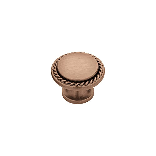 - Liberty PN0293-RAL-C 30mm Rope Edged Kitchen Cabinet Hardware Knob, Red Antique