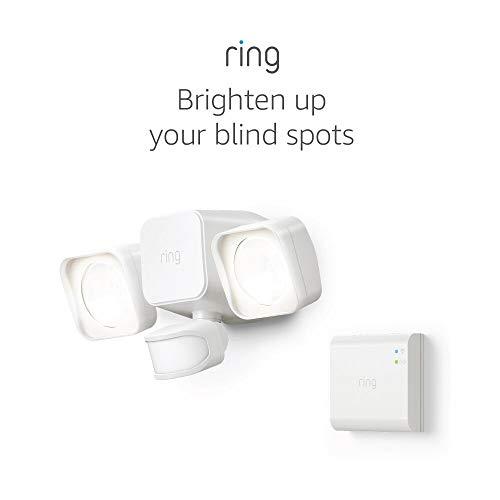 Ring Smart Lighting – Floodlight, Battery-Powered, Outdoor Motion-Sensor Security Light, White (Starter Kit)