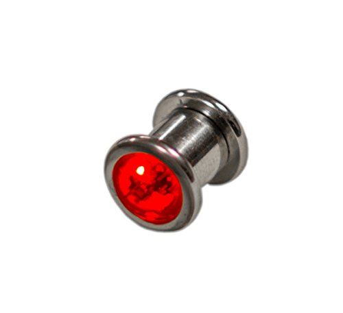 LED Light up Ear Gauge Plug - Auto MultiColor Rotation (S...