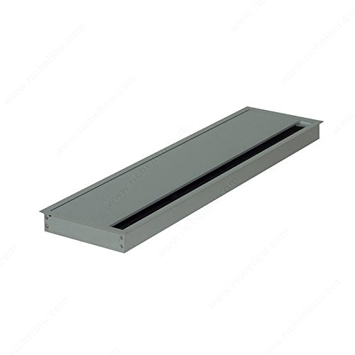 Rectangular Grommet with Brush, Drilling Dimensions - Width 113 mm, Drilling Dimensions - Length 445 mm, Finish Silver