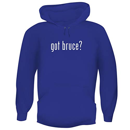 One Legging it Around got Bruce? - Men's Funny Soft Adult Hoodie Pullover, Blue, Small