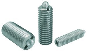 M8 x 22mm Hex Socket Stainless Steel Pin Style Spring Plunger
