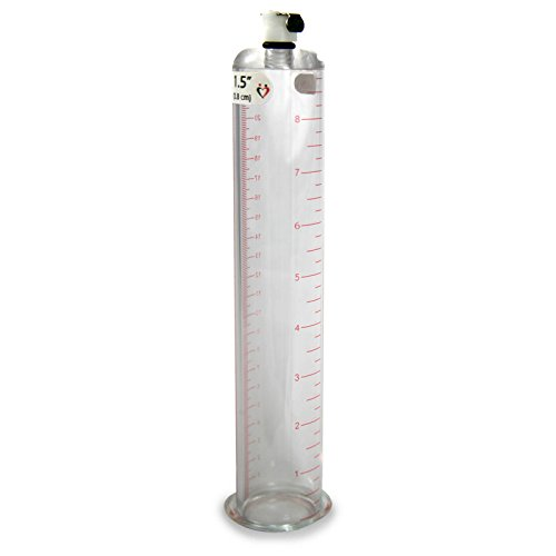 LeLuv Vacuum Cylinder for Penis Pumps Seamless Untapered Medical-Grade Clear Acrylic with Measurement Marks and Locking Fitting 1.50 Inch x 9 Inch by LeLuv (Image #6)