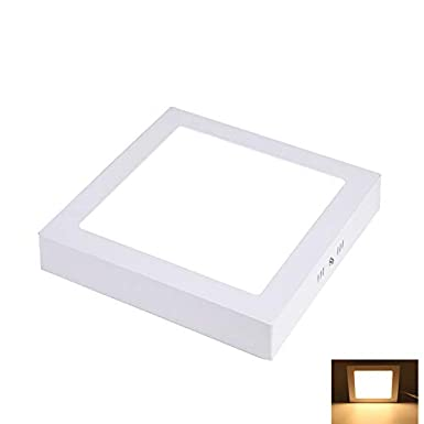 6000K 960lm Meeting room 150/° Beam Angle Cool White Lighting For Bedroom 120V Square Surface Mounted Panel Lamp Non-Dimmable 6.69 12W Led Flush Mount Ceiling Light Pantry