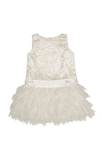 Biscotti Sleeveless Dress (Biscotti Baby Girl's Infant Arabesque Dress, Ivory - Size 18M)