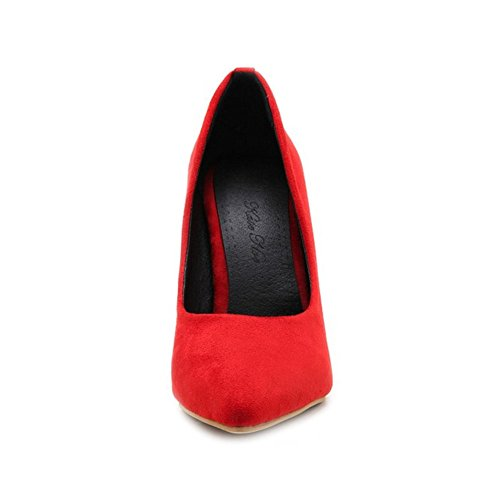 SJJH Sexy Business Court Shoes with Stiletto Fashion Shoes with 5-Colors and Large Size Avaialable Red eNrqZ