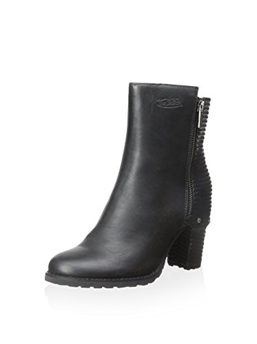 von-dutch-fiona-womens-moto-leather-ankle-booties-boots-black-sz-85