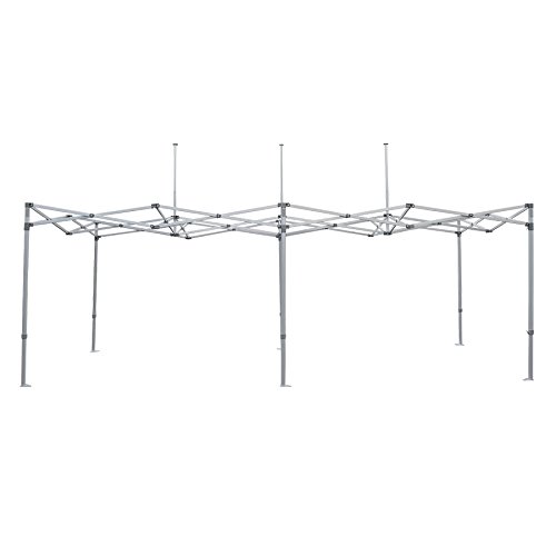 Impact Canopy 10' x 20' Pop-Up Canopy Tent Frame, Commercial-Grade Replacement Aluminum Frame with Dust Cover