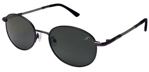 Xezo UV 400 Titanium & Steel Cable Wire Polarized Sunglasses, Dark Gun-Meatl, 23g/0.8 - Jean Sunglasses Maui