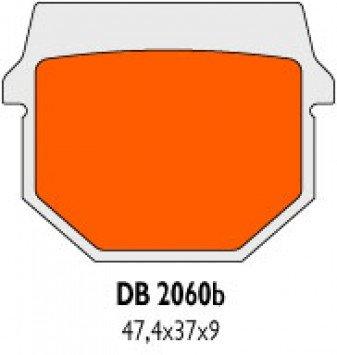 Hinten Bremsbel/äge Delta Braking Sinter DB2060QDN f/ür TGB 325 Blade Quad Baujahr 07-10