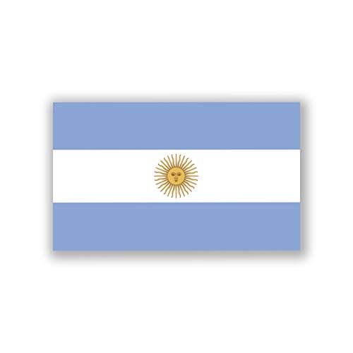 2-Pack Argentina Flag Decal Stickers | Official Flag of Argentina Stickers | 5-Inches by 3-Inches | Premium Quality Vinyl | -