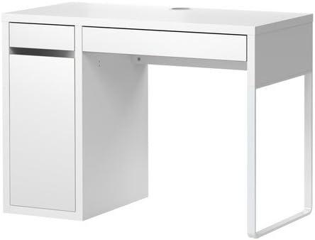 Ikea Micke Bureau Avec Rangement Blanc 105 X 50 Cm Amazon Fr