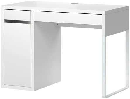 Ikea Micke Bureau Avec Rangement Blanc 105 X 50 Cm Amazon Fr Cuisine Maison