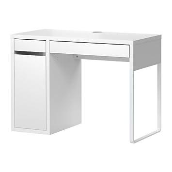 Ikea Micke Bureau Avec Rangement Blanc 120 X 50 Cm Amazonfr
