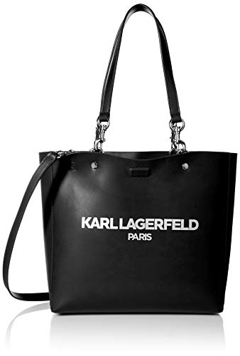 Karl Lagerfeld Paris Adele Applique Tote Bag, Black/Silver (Karl Lagerfeld)