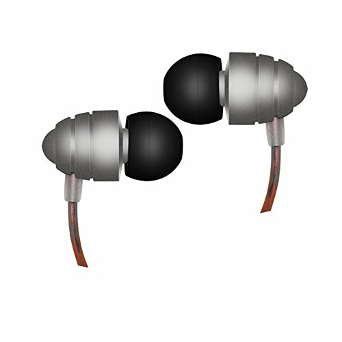 Padear Bullet BT01 Earphones Metal Gray HIFI In-Ear Earbuds Heaphones Headset Earphones with Noise Isolating Headset Earphones with Mic and Volume Control