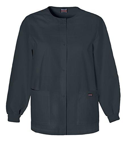 Cherokee Women's Warm Up Scrubs Jacket, Pewter, XX-Large