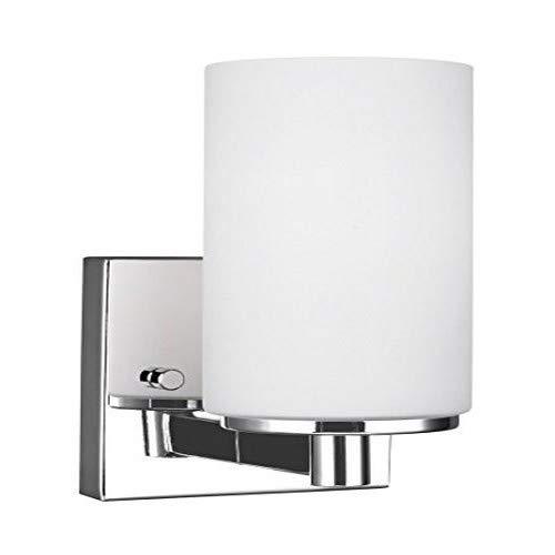 Sea Gull Lighting 4139101-05 Hettinger One-Light Wall / Bath Sconce Vanity Style Lights, Chrome Finish