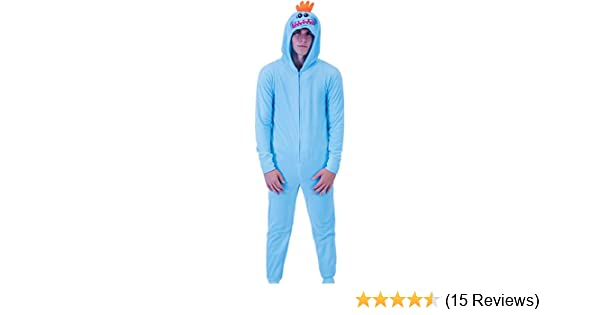 609bfb30993d5c RICK AND MORTY Mr. Meeseeks Onesie Butt Flap Pajama at Amazon Men s  Clothing store