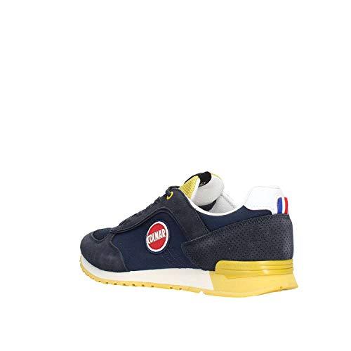 Lacets giallo Baskets Marine Bleu Tracol Homme Colmar Chaussures Jaune Blu xwzH0B4Xq